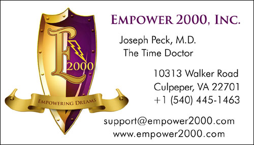 Empower 2000 business card front