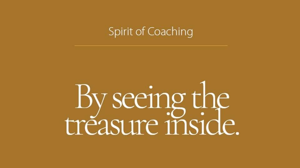By seeing the treasure inside