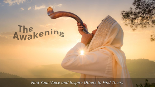 WhThe 2021 Awakening Conference was about ite Robed Man blowing the shofar