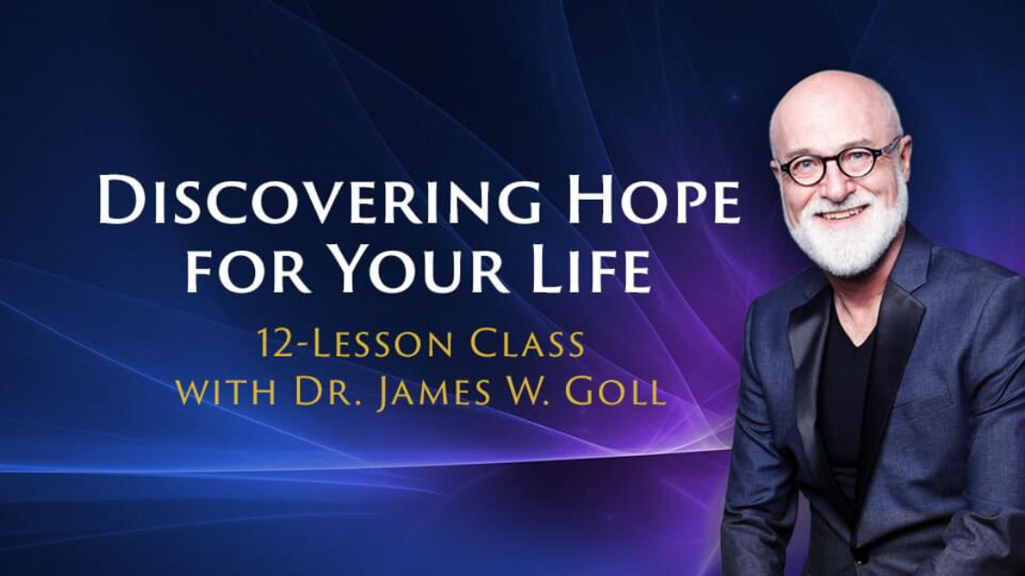 James Goll on the right smiling on a purple background with text Discovering Hope for Your Life